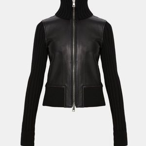 Theory Leather Ribbed Jacket, NWT retails : $895.0
